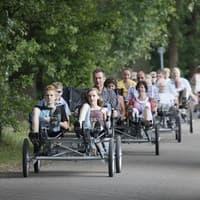 Op stap met familie, vrienden of collegae op één van de vier Quattrocycles.